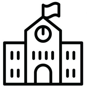 School, Education & Learning icon set in thin line style